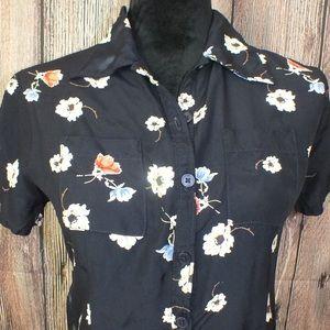 GAP 90s Navy Blue Short Sleeve Shirt Dress Small